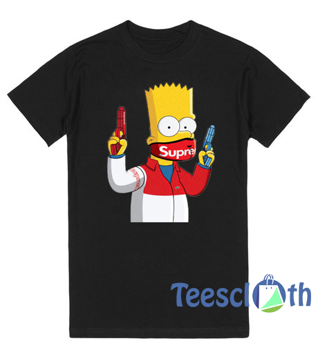 Bart Simpson Gang Supreme T Shirt