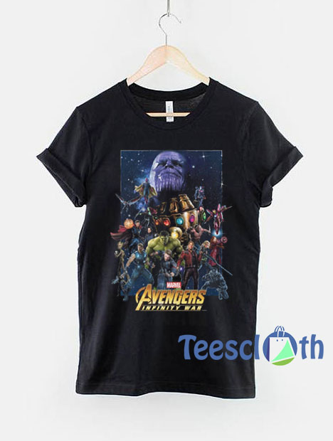 Marvel Avengers: Infinity War Character Collage T Shirt