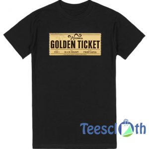 Willy Wonka's Golden Ticket T Shirt