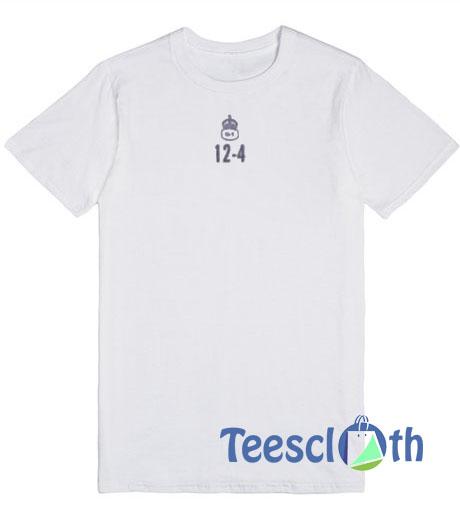12 4 White T Shirt