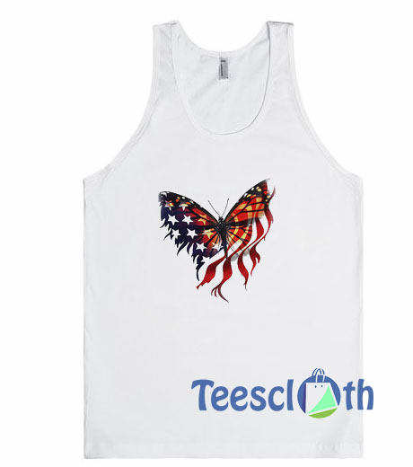 Butterfly American Flag Tank Top