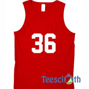 Number 36 Tank Top
