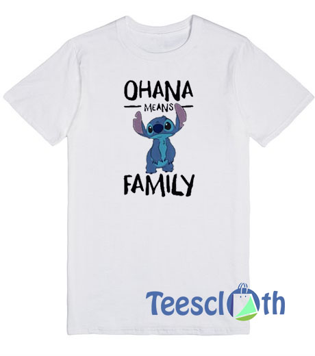 d2b0d6cc Stitch Ohana Means Family T Shirt For Men Women And Youth
