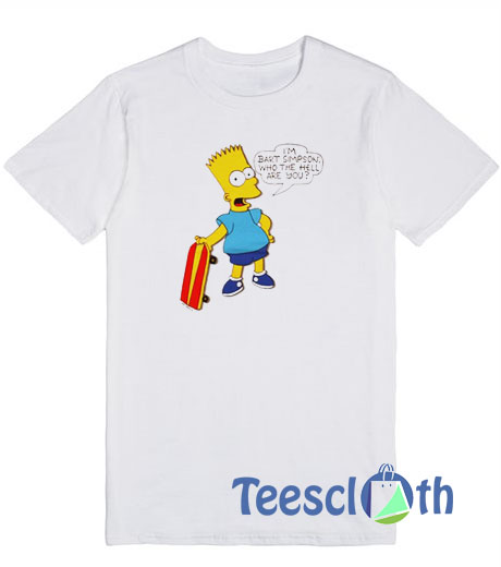 Bart Simpson T Shirt For Men Women And Youth Bart Simpson T Shirt