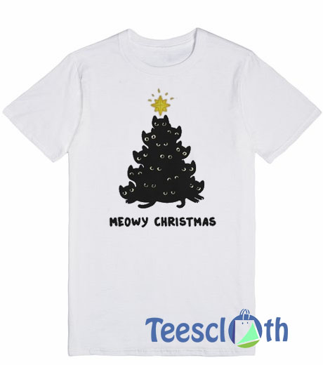 Meowy Christmas.Meowy Christmas T Shirt For Men Women And Youth
