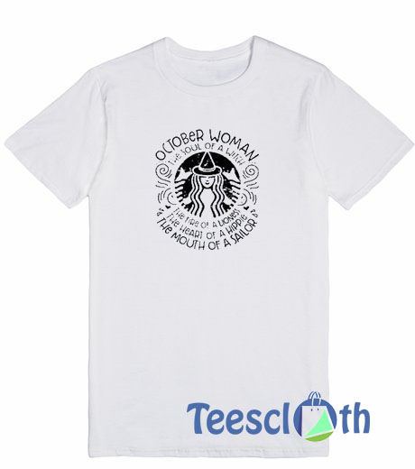 a78039d1f October Woman T Shirt For Men Women And Youth Size S To 3XL