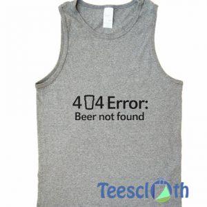 44 Error Tank Top