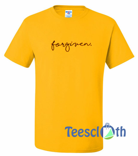 Forgiven Font T Shirt