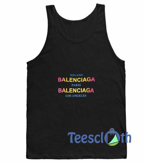 128ee701092 Milano Balenciaga Tank Top Men And Women Size S to 3XL