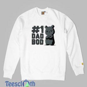 1 Dad Bod Funny Cute And Nerdy Sweatshirt