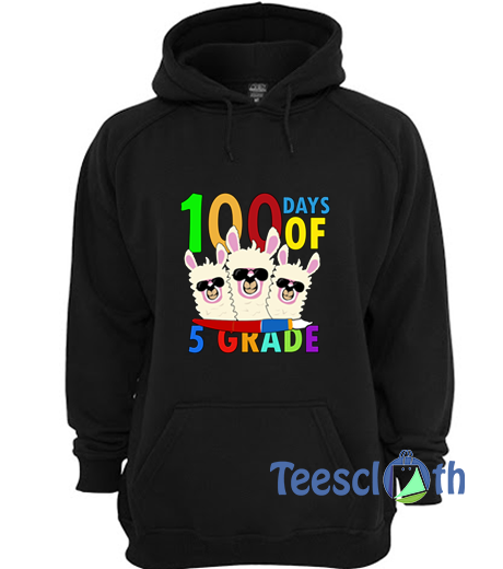 100 Days Of 5th Grade Hoodie Unisex Adult Size S to 3XL