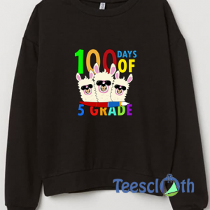 100 Days Of 5th Grade Sweatshirt Unisex Adult Size S to 3XL
