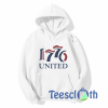 1776 United Retro Logo Hoodie Unisex Adult Size S to 3XL