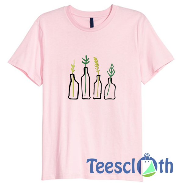 Green Plant Embroidered T Shirt For Men Women And Youth