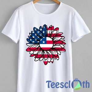American Flag Sunflower T Shirt For Men Women And Youth