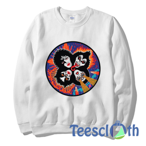 Rock And Roll Kiss Sweatshirt Unisex Adult Size S to 3XL