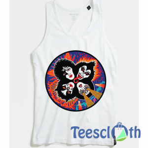 Rock And Roll Kiss Tank Top Men And Women Size S to 3XL