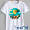 The Beach Photographic T Shirt For Men Women And Youth