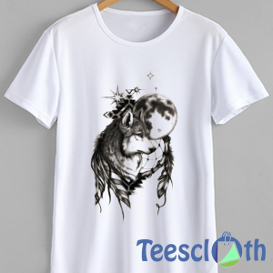 Wolf DreamCatcher T Shirt For Men Women And Youth