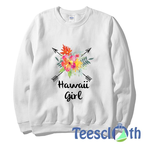 Hawaii Girl Sweatshirt Unisex Adult Size S to 3XL