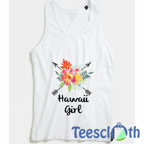 Hawaii Girl Tank Top Men And Women Size S to 3XL