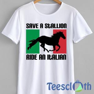 Stallion Ride Italian T Shirt For Men Women And Youth