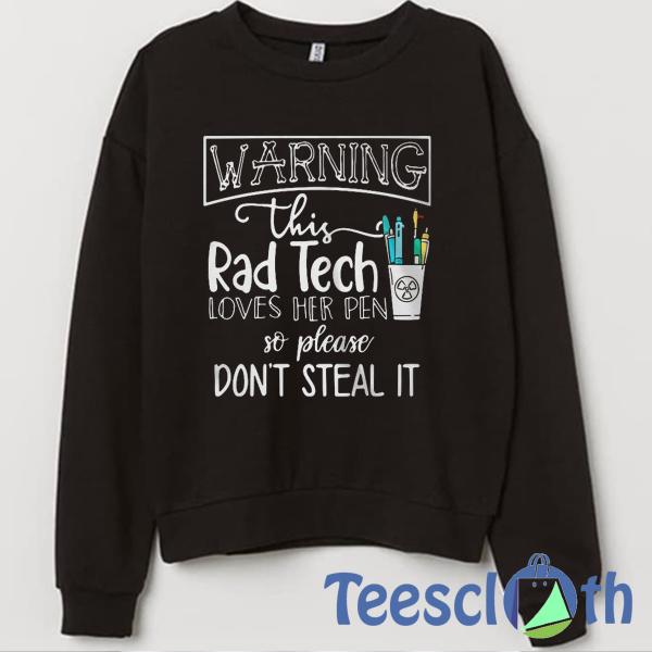 Warning Rad Sweatshirt Unisex Adult Size S to 3XL